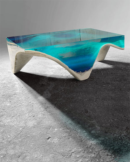 【画像】まるで深海そのもの!深い海の底のようなテーブルが凄い!!の画像(9枚目)