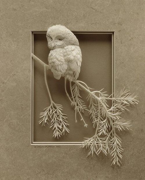 【画像】普通の紙で作る動物のペーパー・カッティング(切り絵)が凄い!!の画像(24枚目)