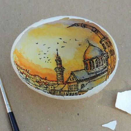 卵の中が別世界!卵の内側に絵を描くアートが面白い!!の画像(15枚目)