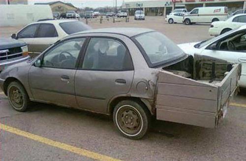 【画像】修理方法が驚異的に雑すぎて、凄いことになってる自動車の数々!!の画像(25枚目)
