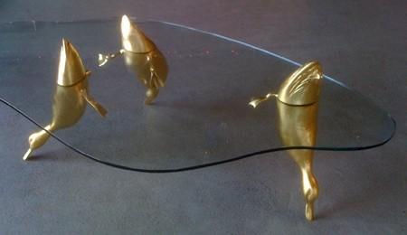 水辺に浮かぶ生物達のテーブル11