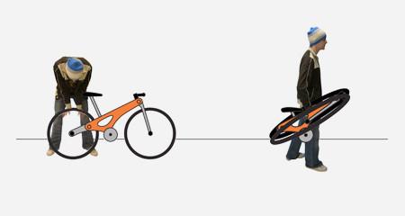 折りたためる自転車のホイールの画像(5枚目)