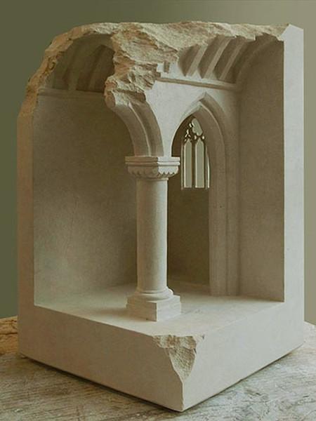 大理石を切り抜いて作った神殿のミニチュア08