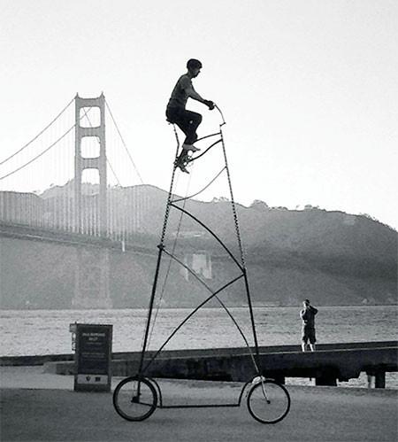 高すぎる自転車の画像(8枚目)