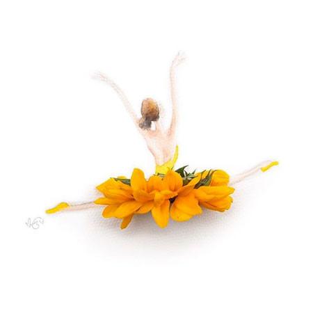 本物の花で描いたアートが華やかで癒される!!の画像(11枚目)