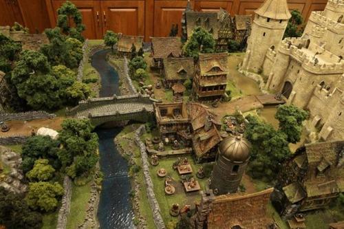 中世の世界を再現したジオラマの画像(8枚目)