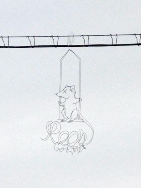 空に絵を描くワイヤーアート10