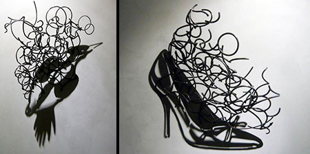 【画像】針金クネクネ!針金の影を使ったアートが凄い!!の画像(1枚目)