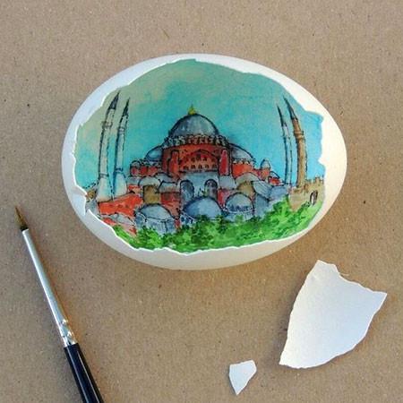 卵の中が別世界!卵の内側に絵を描くアートが面白い!!の画像(14枚目)