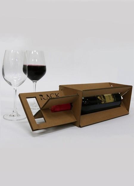 ダンボール製のワインボトルのパッケージ02