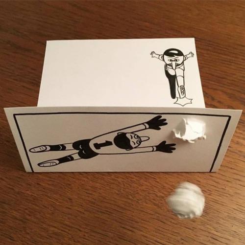 1枚の紙とペンで作った3Dアートの画像(6枚目)
