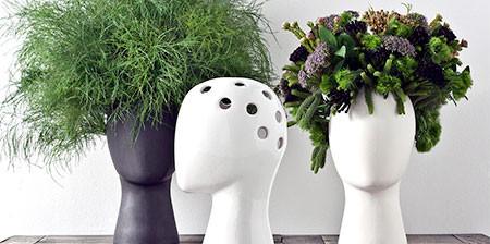 【画像】人の頭から花や植木が生えてくる植木鉢wwwの画像(1枚目)