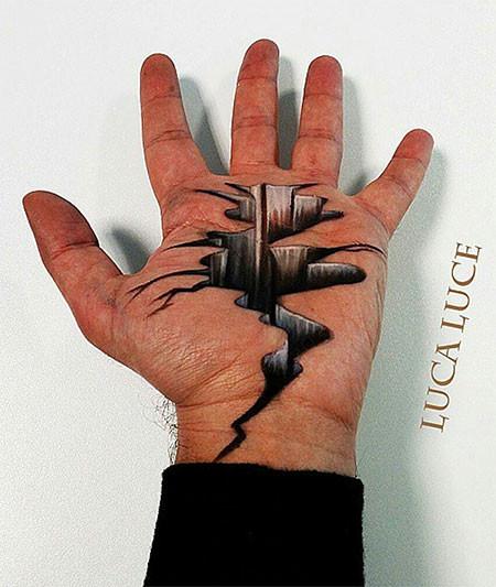 左手がオシャカになっちゃた!3Dアートですごい事になってる左手の画像の数々!!の画像(13枚目)