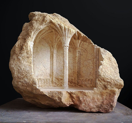 大理石を切り抜いて作った神殿のミニチュア11