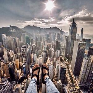 とりあえず高い所に来たので記念撮影をした写真が高すぎて本当に怖いwwの画像(16枚目)