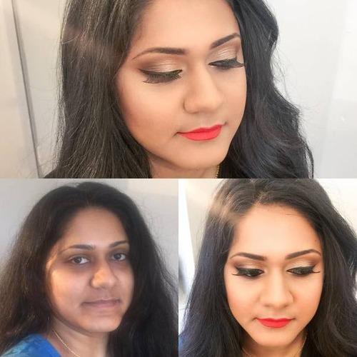 女性の化粧をする前と後の画像(8枚目)