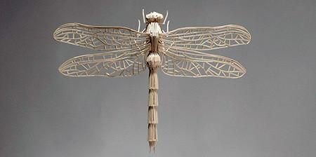 【画像】マッチ棒で作った昆虫のクオリティが凄い!!の画像(1枚目)