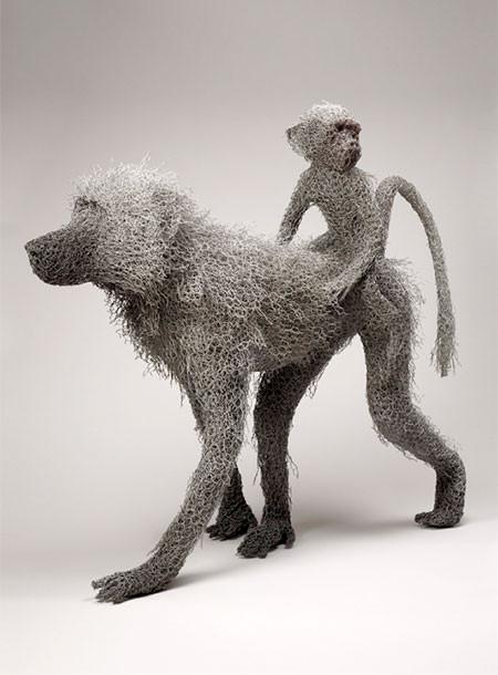 金網で作られた動物の画像(17枚目)
