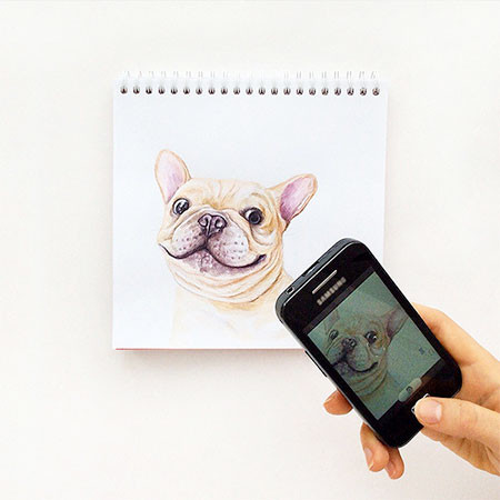 犬の絵が小道具1つで生きてるように見える!!の画像(5枚目)