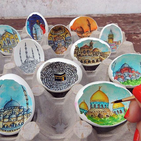 卵の中が別世界!卵の内側に絵を描くアートが面白い!!の画像(18枚目)