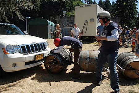 ワインの樽の自転車07