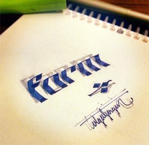 ノートにペンだけで描いた3Dの文字が凄い!!の画像(14枚目)