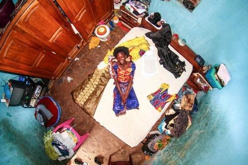 世界各国の人達のベッドルームの画像(21枚目)