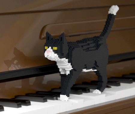 レゴで作ったネコの置物06