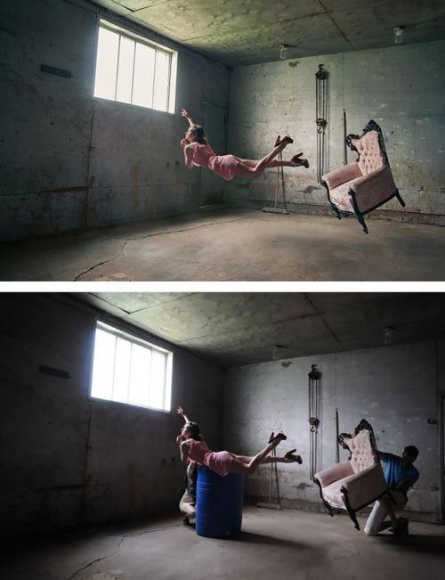 芸術的な写真と撮影風景のギャップの画像(12枚目)