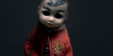 【画像】サルにマスクを被せたら凄まじく怖くなったwwwの画像(1枚目)
