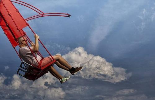 怖すぎる空中ブランコの画像(2枚目)
