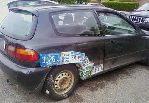 【画像】修理方法が驚異的に雑すぎて、凄いことになってる自動車の数々!!の画像(27枚目)
