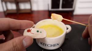 世界一小さい食べれるチーズフォンデュ9