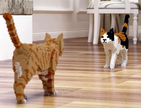 レゴで作ったネコの置物09