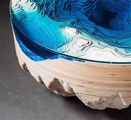 深海の地形がテーブルの画像(9枚目)