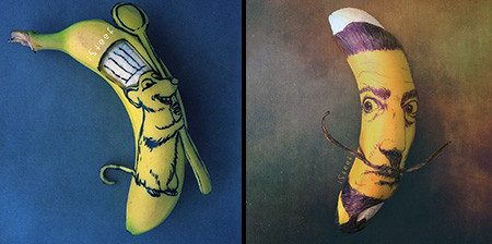 バナナのカービングアート1
