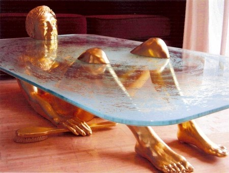 水辺に浮かぶ生物達のテーブル08