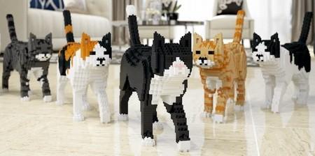 レゴで作ったネコの置物01
