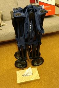 アルペン限定カラー コールマン アウトドアワゴンカート ネイビー紺色画像8
