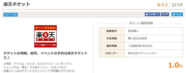 楽天チケット お財布.com