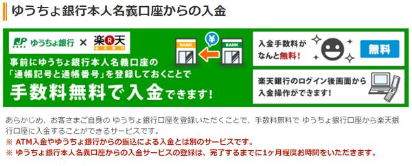 ゆうちょ銀行→楽天銀行