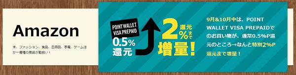 POINT WALLET VISA PREPAIDカード Amazon