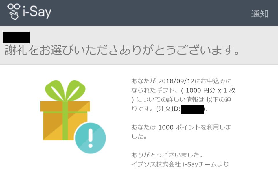 i-Say ポイント Amazonギフト券
