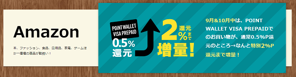 Amazon POINT WALLET VISA PREPAID