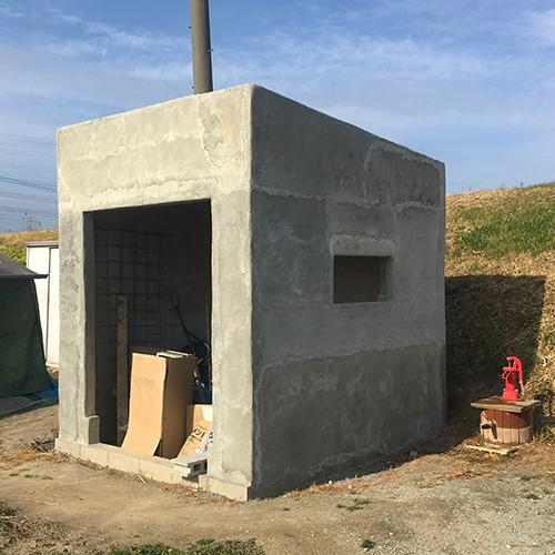 一人で作るブロック小屋⑧ ~モルタル壁塗り左官作業~⑪
