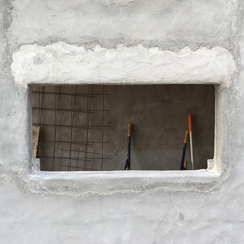 一人で作るブロック小屋⑧ ~モルタル壁塗り左官作業~⑫