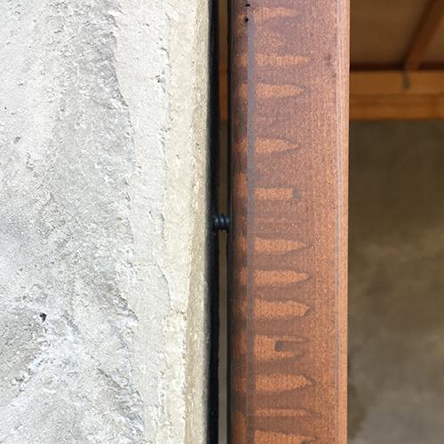 一人で作るブロック小屋⑨ ~ドア枠・窓枠の取り付け~⑥