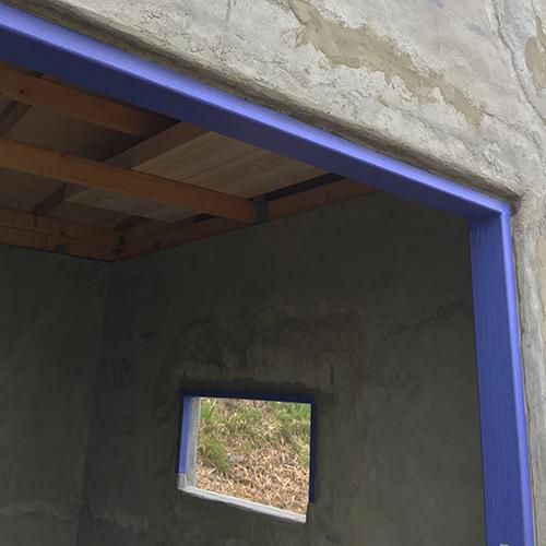 一人で作るブロック小屋⑩ ~ペイント作業~①