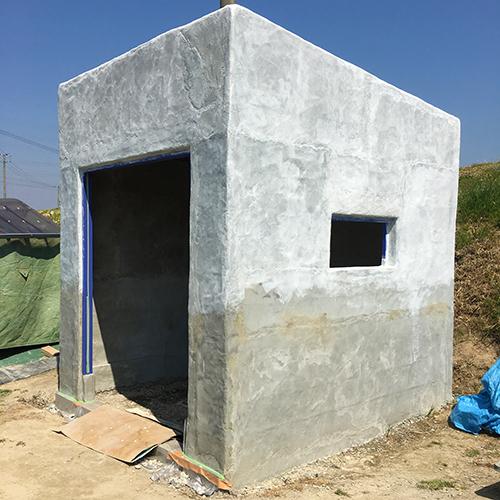 一人で作るブロック小屋⑩ ~ペイント作業~③