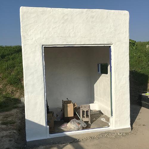 一人で作るブロック小屋⑩ ~ペイント作業~⑦